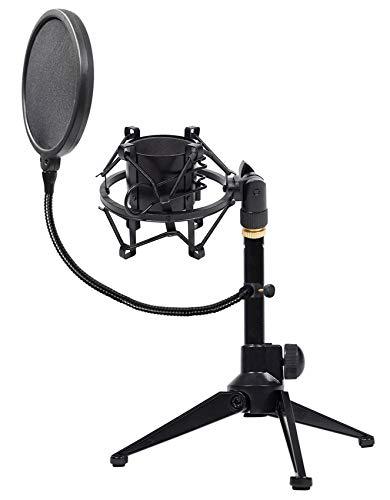 - Rockville RDTS Adjustable Studio Desktop Tripod Microphone Stand+Shockmount