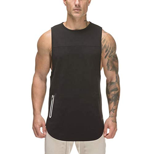 Male Gym Fashion Vest,MmNote Gym Muscle Fitness Sports Athletic Body Shaper Microfiber Bodybuilding Stringer Tank ()