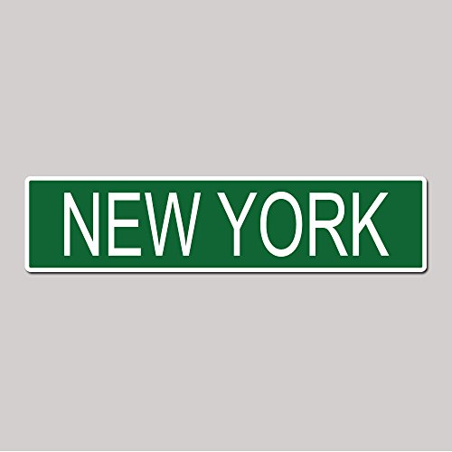 NEW YORK City Pride Green Vinyl on White - 4X17 Aluminum Street Sign