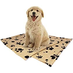 "Pet Blanket, Large (60""x39"") for Dogs & Cats of All Sizes, 2 BONUS eBooks, Lightweight, For Cars, Pet-beds, Sofas, Lap, Serve as Hair Barrier, Sewn Hem Won't Fray, Machine Washable & Easily Folded"