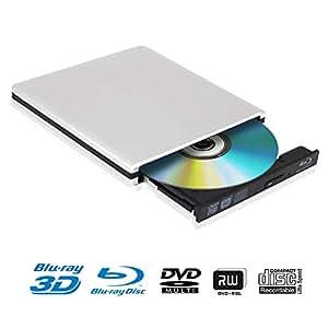 Blu Ray 4K Reproductor Grabadora DVD Externo Portatil