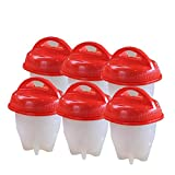 Mumaxun Egg Cooker Get Hard Boiled Eggs Without the Shell 6 pcs/set Egg Cups As Seen On TV Egg Poachers