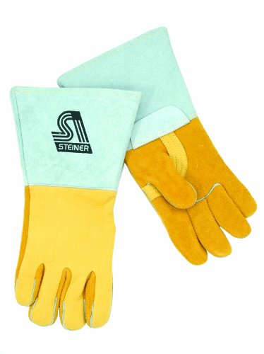 Steiner 8500-M Premium Welding Gloves, Saddle Elk skin, Nomex Lined Back, (Lined Saddle)