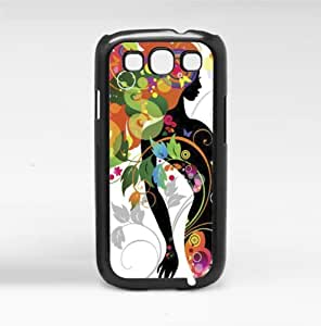 Colorful Abstract Women's Silhouette Art Hard Snap on Phone Case (Galaxy s3 III)