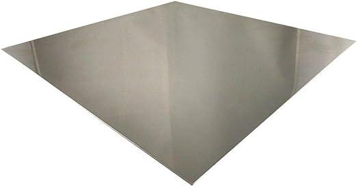 Edelstahlblech 1 mm V2A Blech K240 geschliffen 1.4301 Zuschnitte Edelstahlblech Platte Wunschma/ß m/öglich 100mm x 100mm