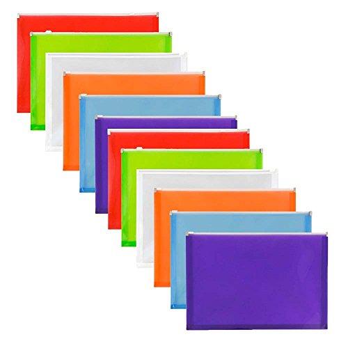 JAM Paper Plastic Envelopes with Zipper Closure - Letter - 9 3/4