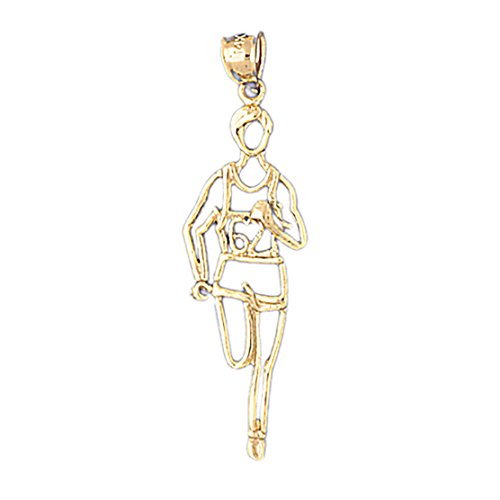 14k Yellow Gold Runner Pendant (Elegance Collection Runner)