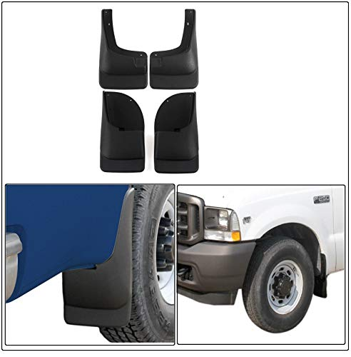 4 Pieces of Front & Rear Mud Guards | Mud Flaps Fit for 1999-2007 Ford Super Duty F250 F350 F450 F550 - Premium Grade + Easy Installation (Textured Black)