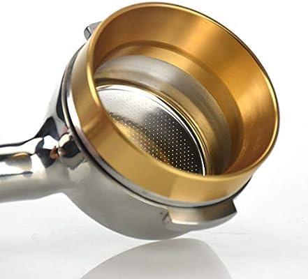 Fenteer Coffee Dosing Funnel Ring Replacement Aluminum 58mm Diameter Gold Insert Type as described