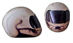 SkullSkins Skull Motorcycle Helmet Street Skin (White)