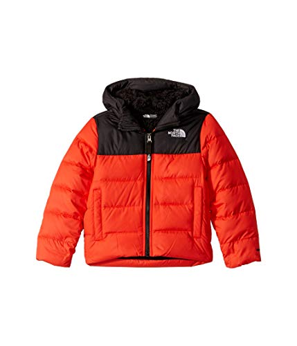 The North Face Youth Moondoggy 2.0 Down Hoodie Fiery Red (Face North Jacket Boys)