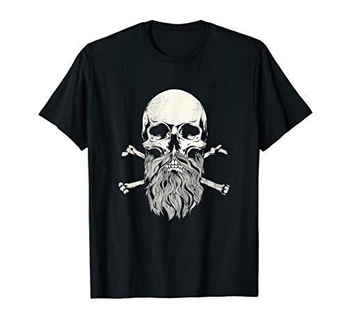 irt Bearded Skull & Crossbones Tee Gifts ()
