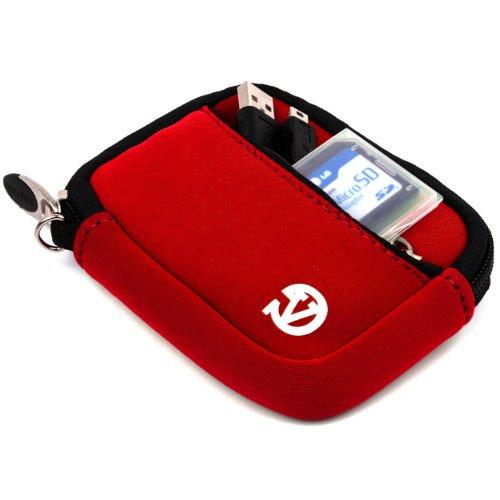 VanGoddy Mini Glove Neoprene Sleeve for Panasonic Lumix DMC-TS30 Digital Cameras (Red)