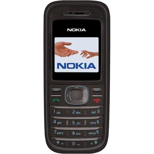 Nokia 1208 Sim Free Mobile Phone Black