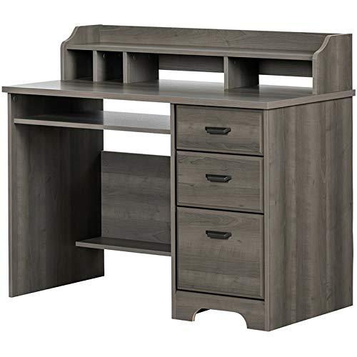 South Shore 12108 Versa Computer Desk with Hutch, Gray Maple