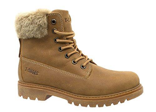 Georgia Femme shoes En Cuir Jaune Bottes T Ts097 qwxXgSnqOE