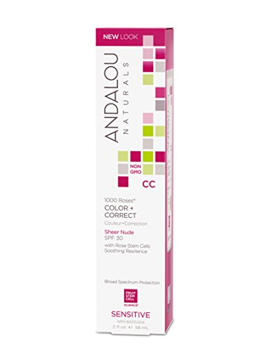 Andalou Naturals 1000 Roses CC Color + Correct Sheer Nude SPF 30, 2 Ounce by Andalou Naturals (Image #2)