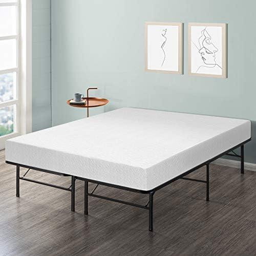 Best Price Mattress 8 Memory Foam Mattress Bed Frame Set – Twin – No Box Spring Needed