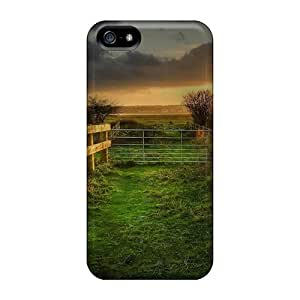 New Arrival Case Specially Design For Iphone 5/5s (sunset On A Fenced Path In The Fields)