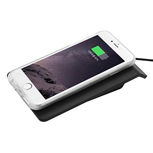 iProtect 2en1 Set Qi compatible housse de protection inductif doré et station de charge Qi blanc brillant pour Apple iPhone 6