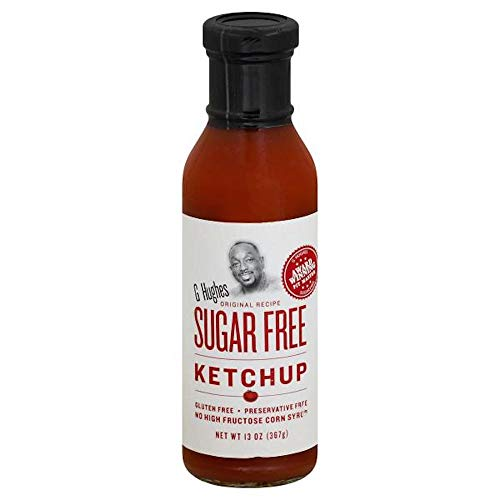 G Hughes Sugar Free Ketchup, 13 Ounce Bottle, Gluten Free, No High Fructose Corn Syrup