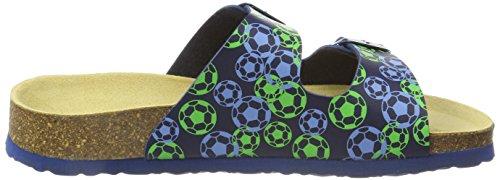 Superfit Jungen Fussbettpantoffel Pantoffeln Blau (Ocean Multi 83)