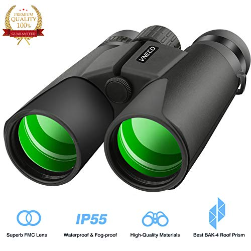 10x42 Binocular Adult- Folding High Powered Binoculars Weak Light Night Vision Clear Bird Watching Great Outdoor Sports Games Concerts by VNEED