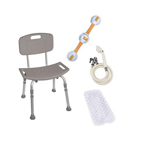 BATHBUNDLE - Drive Medical Shower Tub Chair Bathroom Safety Bundle by Drive Medical