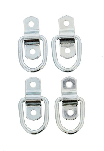 "ABN 1"" inch Surface Floor Mount Tie Down Ring, 4-Pack, 900 Pound Capacity for Safe and Secure Hauling (Down Hardware)"