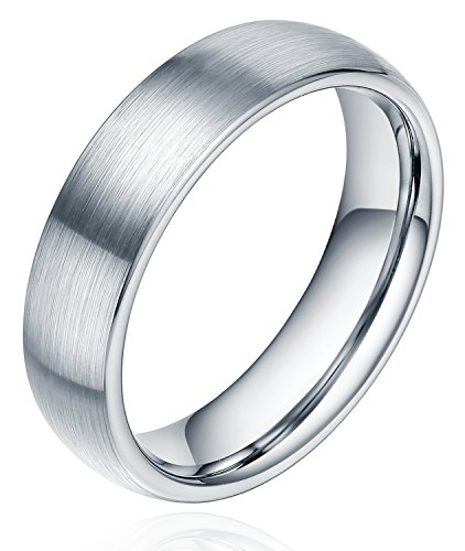 6mm-tungsten-plain-dome-brushed-stain-wedding-band-rings-comfort-fit-size-4-15