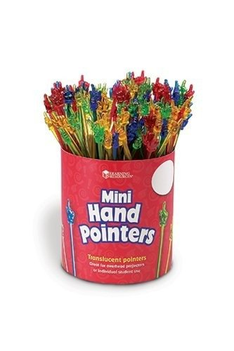 Mini Hand Pointers; Assorted Colors; Set Of 100; no. LER1962 by Learning Resources