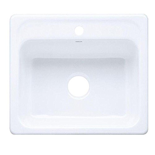 - Kohler K-5964-1-0 Mayfield Self-Rimming Kitchen Sink, White