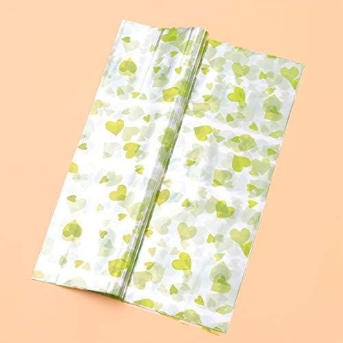 Toyvian 50枚の花束花束包装紙diyクラフトハート柄フラワーラッパーギフト包装シート用バレンタインデーの結婚式