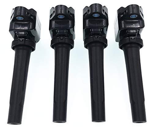 Price comparison product image HZTWFC 4 Pack Ignition Coil Compatible for Mazda CX-5 Mazda 3 Mazda 6 PE2018100 H6T61271 PE20-18-100A PE2018100A PE20-18-100
