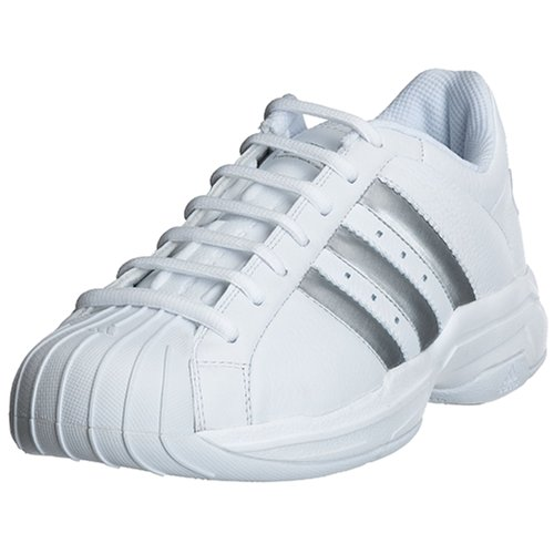 adidas Men\'s Superstar 2G Basketball Shoe, White/Silver, 11 M ...