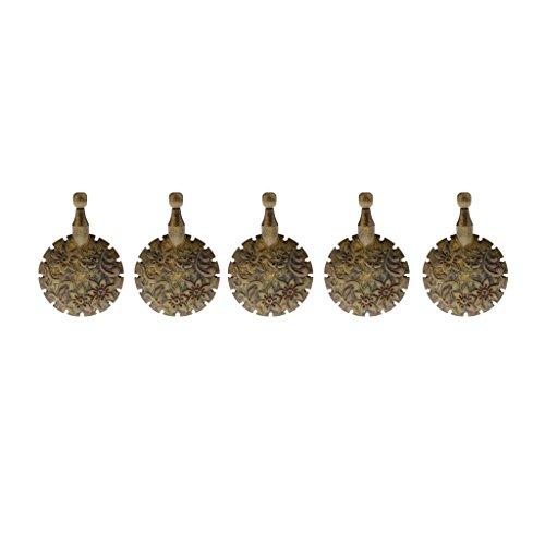 (Baoblaze 5 Pieces Metal Knitting Yarn Sewing Thread Cutter Pendant Round Shape Tailor Scissors)
