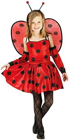 Partilandia Disfraz de Mariquita ALAS niña Infantil para Carnaval ...