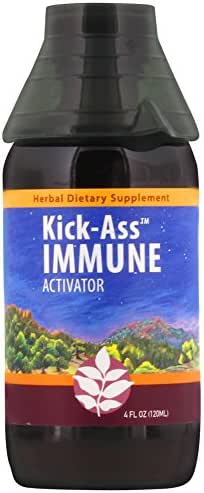 WishGarden Herbs - Kick-Ass Immune, Organic Herbal Immune Booster Promotes Healthy System Response and Resistance (4 Ounce Jigger)