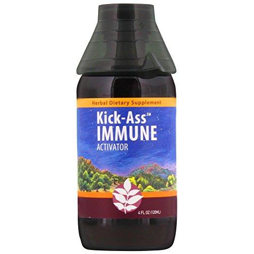 WishGarden Herbs - Kick-Ass Immune, Organic Herbal Immune Booster Promotes Healthy System Response & Resistance (4 oz Jigger)