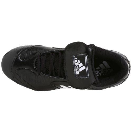 Adidas Mænds Excelsior 6 Lav Baseball Klampen Sort / Hvid / Sølv DAGVgt