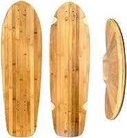 "Lucid 33"" Bamboo Old School Skateboard - Blank Bamboo Longboard Skateboard"