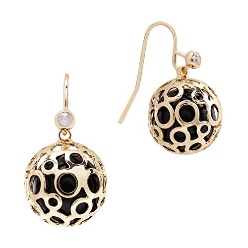 SILVERAL Dangle Earrings for Women Vintage Hollow Ball Drop Earrings Pierced Earrings(Hollow Ball Golden) - Earrings Ball Vintage In