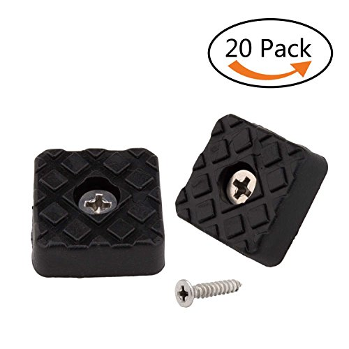 - 20pcs Square Furniture Pads,ULIFESTAR Furniture Feet Glides Sliders Carpet Saver Hardwood Floor Protectors Surface Protection for Chair Table Sofa Couch Leg Caps Non Slip Furniture Grippers (Black)