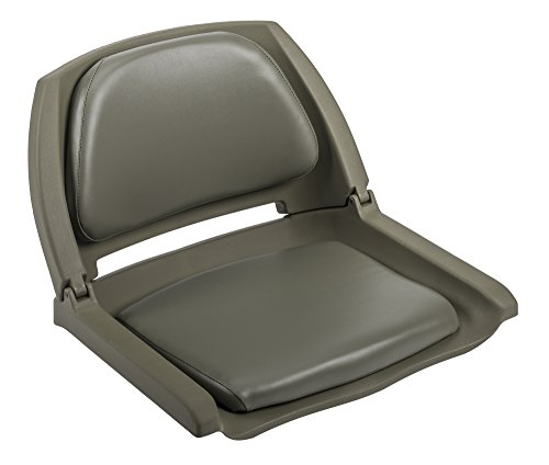 (Wise 8WD139 Series Molded Fishing Boat Seat with Marine Grade Cushion Pads, Green Shell, OD Green Cushion)