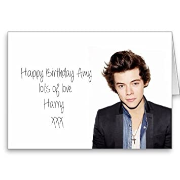 Harry Styles One Direction Personalised Birthday Card Amazon