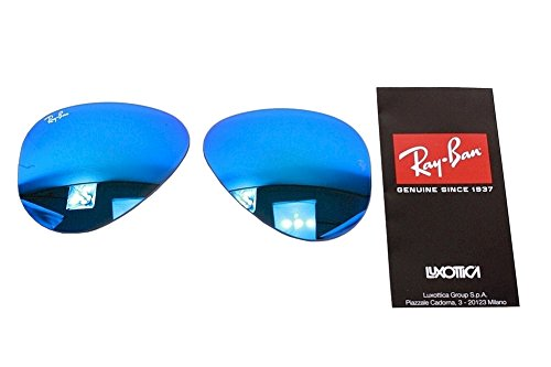 Ray Ban RB3025 3025 RayBan Sunglasses Replacement Lens Flash Blue Mirror - Size 55 Sunglasses Aviator