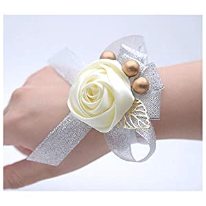HappyERA Wedding Wrist Corsages Bride Bridesmaids Hand Flowers Party Prom Women Wrist Flower 47