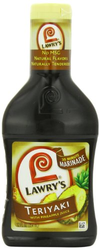 Lawry's 3-Minute Marinade, Teriyaki with Pineapple Juice, 12-Ounce Bottles (Pack of 6)