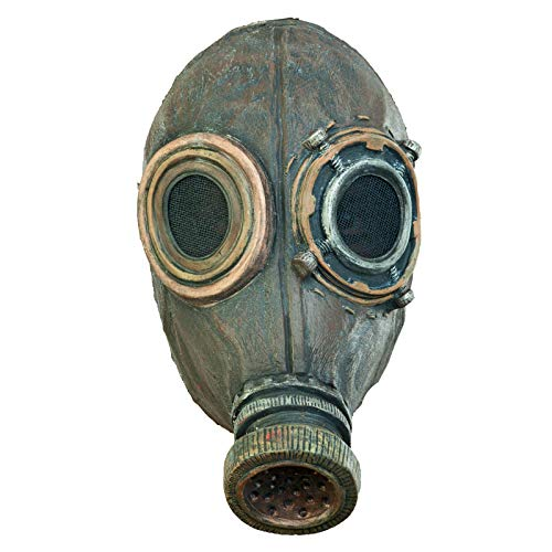 Adult Unisex Wasted Post Apocalyptic Steampunk Latex Costume Gas Mask Rustic -