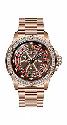 Invicta Specialty Casino Automatic Crystal Red Dial Men's Watch 28714
